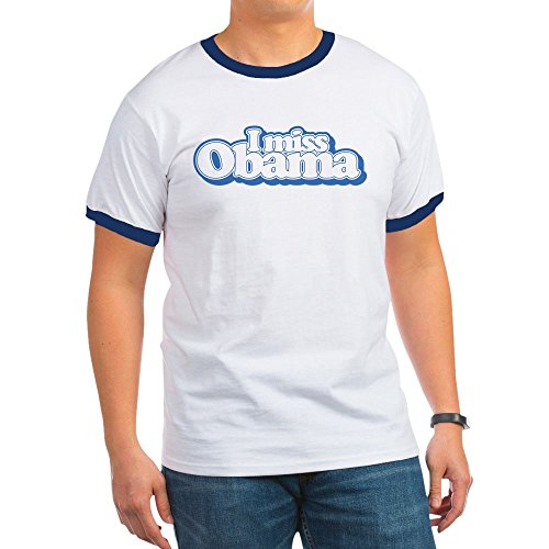 CafePress Miss Obama B - Ringer T-Shirt, 100% Cotton Ringed T-Shirt, Vintage Shirt Obama Ringer