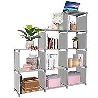 Clewiltess 9 Cube DIY Storage Bookcase,Bookshelf for Kids,Home Furniture Storage Shelves Closet Organizer Rack Cabinet for Bedroom Living Room Office,