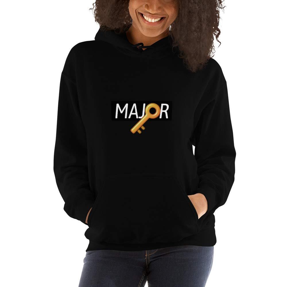 Uristocrat Major Key Black Women Mens Hooded Sweatshirt