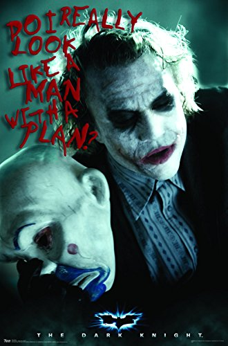Trends International Dark Knight Man with A Plan Wall Poster 22.375