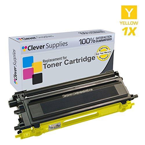 Clever Supplies Compatible Brother TN115 TN-115 (TN115Y) Yellow Toner Cartridge, DCP-9045CDN, 9040CDN, 9045CN, HL-4070CDW, 4040CDN, 4040CDW, 4070CDS, 4050CDN, MFC-9440CN, 9450CDN, 9840CDW, (Tn115 Yellow Toner)