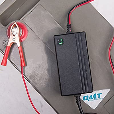 12V to 14.8V Automatic Lead Acid Battery Charger/Maintainer, 1.2A Trickle Charger for car, Truck, Boat, Motorcycle, RV, Lawn Tractor: Automotive