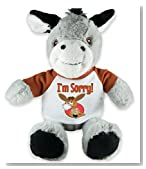 Flutter Hut I'm Sorry Donkey Plush with Message T-Shirt 8 Inches