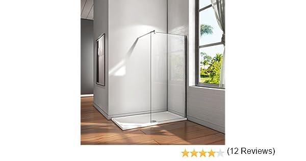 Mamparas ducha Panel Pantalla Fija cristal 10mm templado para baño (90x200cm): Amazon.es: Bricolaje y herramientas