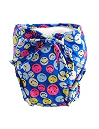 [Smiling Face] Adjustable Infant Swim Diaper with Ties, Size Medium
