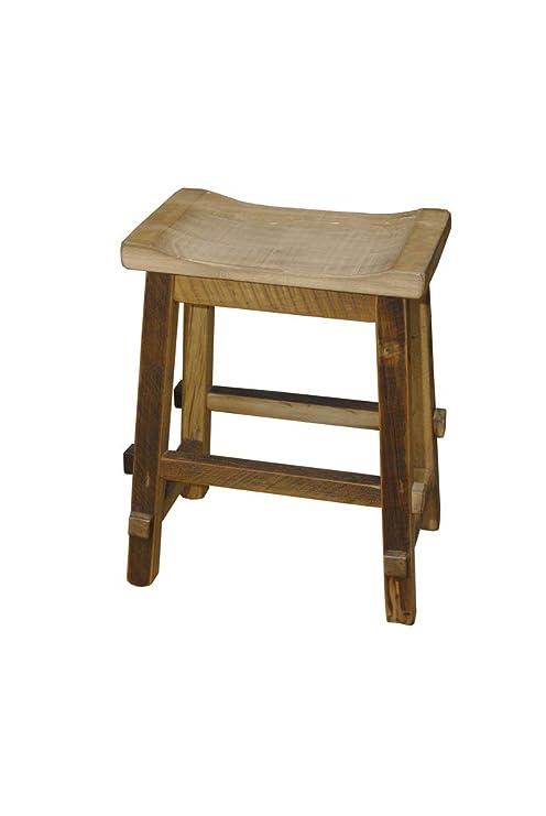 Wondrous Amazon Com Rustic Reclaimed Barn Wood Saddle Stool Kitchen Theyellowbook Wood Chair Design Ideas Theyellowbookinfo
