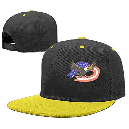 Siwnqk Children Sun Hats Caps United States Bald Eagle Yellow