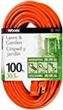 Woods 0269 16/3 SJTW General Purpose Extension Cord, Orange, 100-Foot