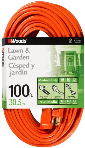 Woods 0269 16/3 SJTW General Purpose Extension Cord, Orange, ()