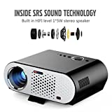 Kanzd 1080P Full HD Mini LED Projector 3D Home Theater Cinema HDMI VGA USB (Black)