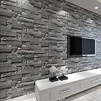 baporee Steen-behang van baksteen-3D gestapeld moderne wandbekleding PVC-rollen behang bakstenen muur achtergrond behang…
