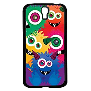 Colorful Monsters on Purple Background Background Hard Snap on Phone Case (Galaxy s4 IV)