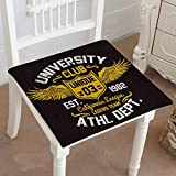Mikihome Chair Pad Soft Seat Cushion College California Typography Vector Expandable Polyethylene Stuffed Machine Washable 20''x20''x2pcs