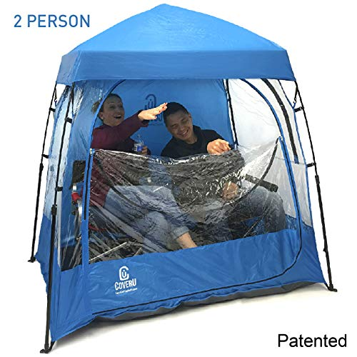 EasyGO CoverU Sports Shelter - 1 or 2 Person Weather Tent Pod - Patents Pending (2 ()
