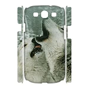 ALICASE Cover Case Gray Wolf 3D Diy For Samsung Galaxy S3 I9300 [Pattern-1]