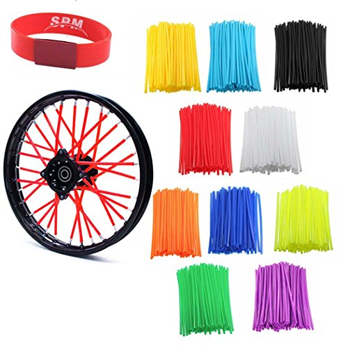 SPM 72pcs Wheel Spoke Wraps Skins Coat Trim Cover Pipe for Motorcycle (Cross Pipe)