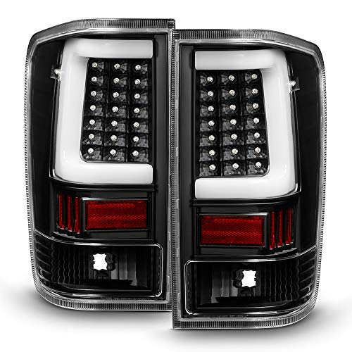 - ACANII - For Black [LED Light Tube Style] 2004-2015 Titan A60 LED Tail Lights Brake Lamps