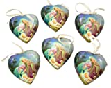 Set of 6 Sleep in Heavenly Peace Decoupage Christmas Ornament