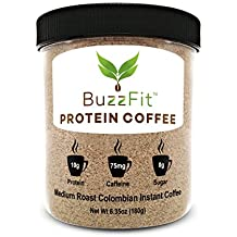 BuzzFit Protein Coffee - Colombian Coffee w/ Whey Protein, SERVED HOT, 6.35 oz