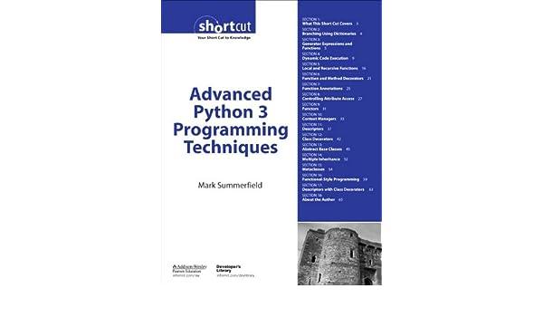 Advanced Python 3 Programming Techniques (Digital Short Cut