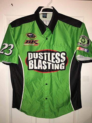 LARGE BK Racing Advertising Edge Alex Bowman Dustless Blasting Pit Crew Shirt Nascar Jersey TRD Race Used from Advertising Edge