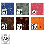 AMACO Crystaltex Glaze Classroom Pack 3, Assorted Colors, Set of 6 Pints