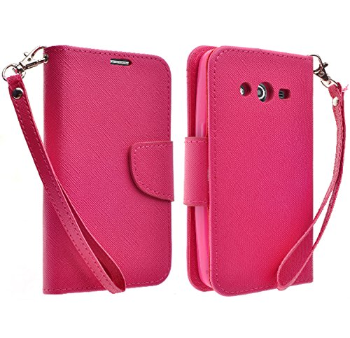 Galaxy Wireless Hybrid Dual Layer Diamond Case for Samsung Galaxy Avant G386 (T-Mobile) (Hot Pink) (Samsung Galaxy Avant G386 Case)