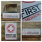 Nostalgic-Art Boîte en Fer Blanc Plate Style rétro pour kit de Premiers Secours Imprimé First Aid 23 x 16 x 7 cm 8