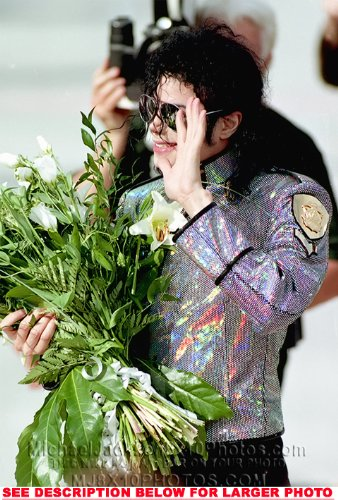 Michael Jackson Dangerous Flowers 1 Rare Fine Art Photo