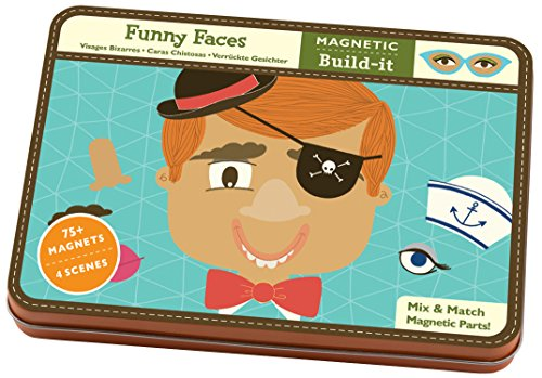 Mudpuppy Funny Faces Magnetic Build-its]()