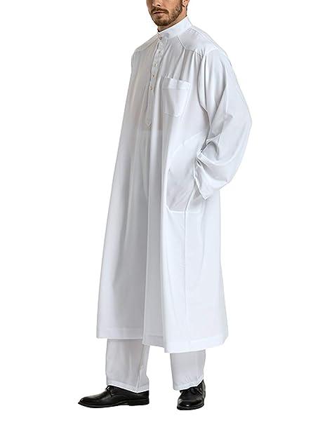 Zhhlaixing Musulmán Conjuntos de Ropa de Hombre Ropa Árabe ...