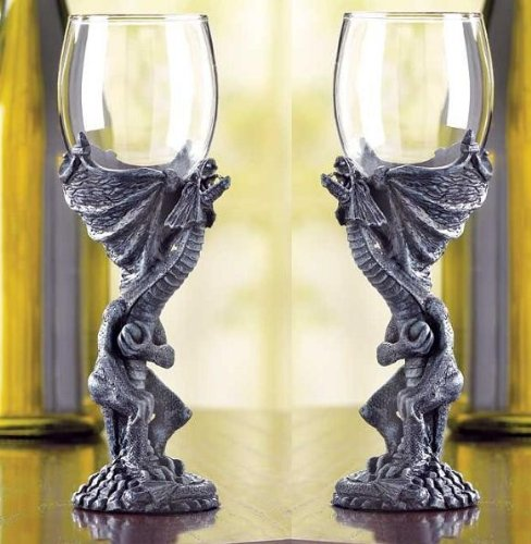 Set of 2 Gothic Medieval Dragon