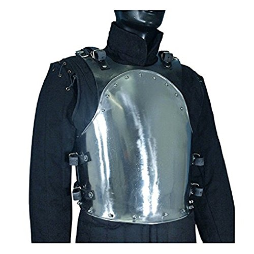 Armor Medieval MERC Steel Cuirass Breast Plate Body Armor Silver One Size