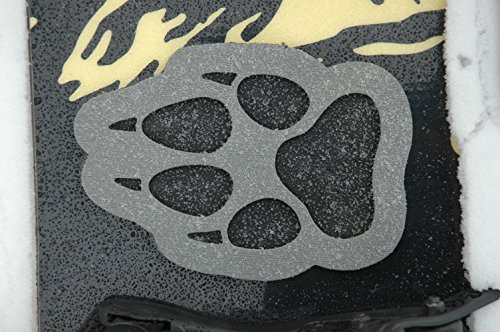 ToeJamR Snowboard Stomp Pad Wolf Paw Gray