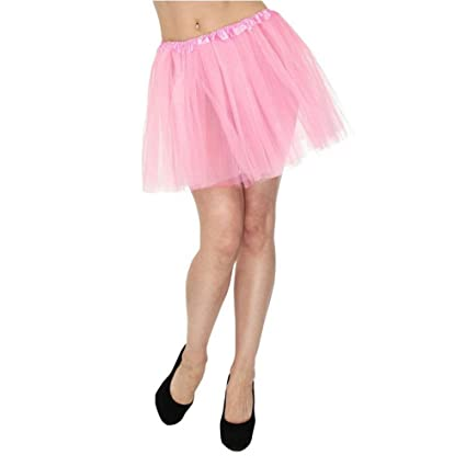 Tinksky Tutú Falda De Danza Corta De Tul Para Mujer (Rosa): Amazon ...