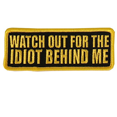 Out Embroidered Patch - Hot Leathers Watch-Out Embroidered Patch (Multicolor, 4
