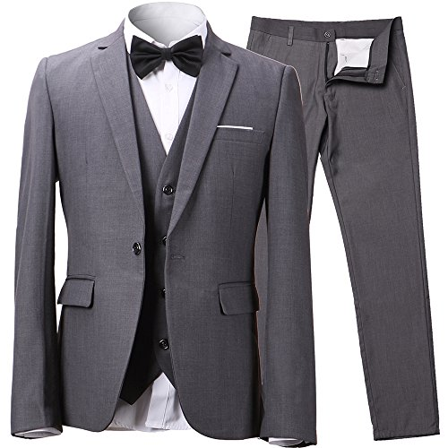 One Button Suit Jacket - 1