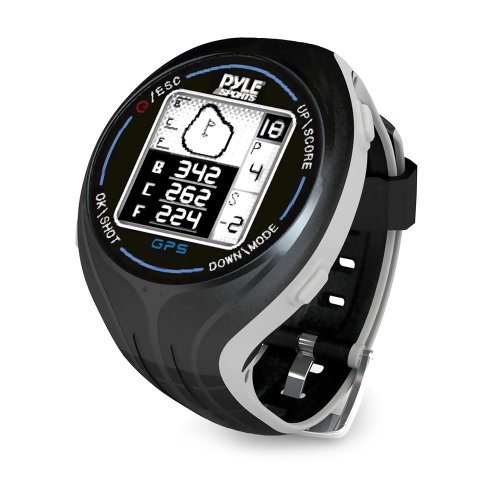 PYLE PSGF605BK GPS Smart Golf Watch with Course Recognition Green Locator Distance Calculator & Scoring System by Pyle