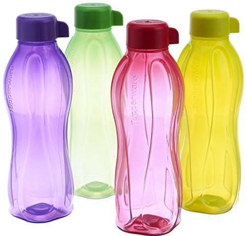 Tupperware Eco Sports 1 Litre Aqua Safe Water Bottle ( Set of 4) 32 -