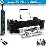 "HP DesignJet T120 24"" Large-Format Inkjet Printer (CQ891BB1K) Office Bundle"