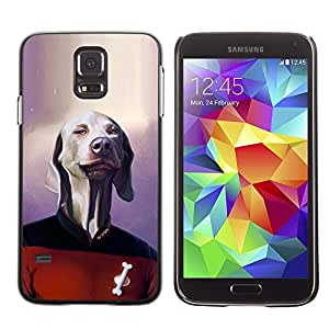 Be Good Phone Accessory // Dura Cáscara cubierta Protectora Caso Carcasa Funda de Protección para Samsung Galaxy S5 SM-G900 // Dog Sci-Fi Movie Character Funny