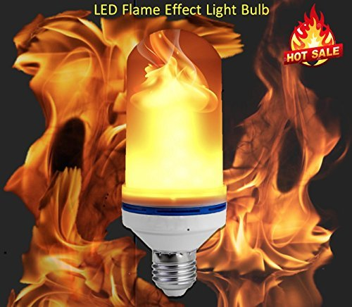 4Modes  LED Flame Effect Light Bulb, E26 LED Flickering Flame Bulbs, 105pcs 2835 LED Simulated Decorative Atmosphere Lighting Vintage Flaming Light Bulb. Led Flaming Bulb
