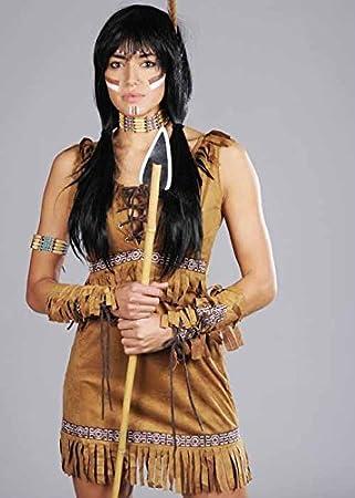 Adult Womens Indian Princess Pocahontas Costume Small (UK 8-10)  sc 1 st  Amazon UK & Adult Womens Indian Princess Pocahontas Costume Small (UK 8-10 ...