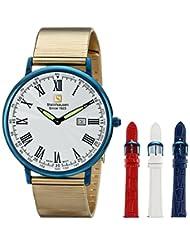 Steinhausen Men's SW493-UW Dunn Horitzon Analog Display Swiss Quartz White Watch Set