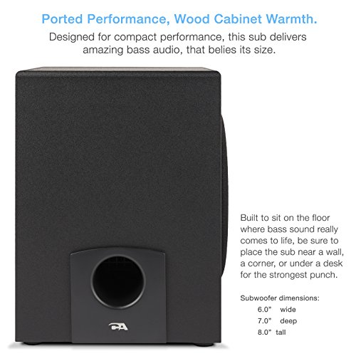 Cyber Acoustics 2.1 Subwoofer Speaker System with 18W of Power – Great for Music, Movies, Gaming, and Multimedia Computer Laptops (CA-3090) by Cyber Acoustics (Image #3)