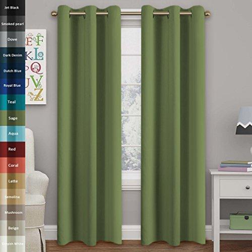 Blackout Curtains blackout curtains 90×90 : Curtains 90x90 eyelet green - StoreIadore