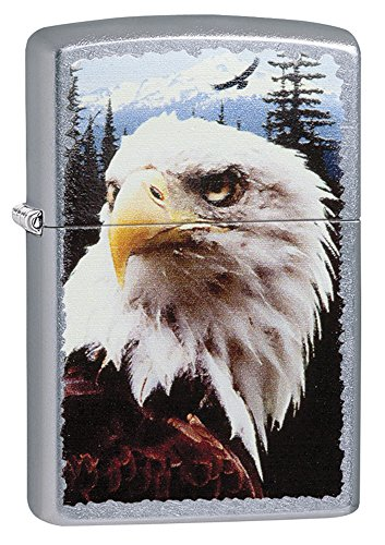 Zippo Eagle Pocket Lighter, Street (Feather Zippo Lighter)