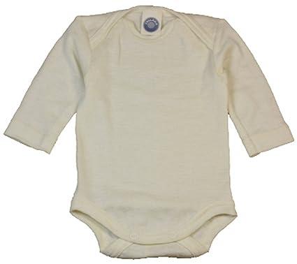 fa58be9724fd7d Cosilana Baby-Body langarm aus 70% kbT-Merino Schurwolle und 30% Seide