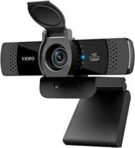 VIOFO P800 1080P Webcam with Built-in Dual Microphone, Privacy Cover, Rotatable Clip, Computer HD Streaming Web Camera, USB Web Cam for Laptop Desktop PC Video Calling Recording Gaming Conferencing