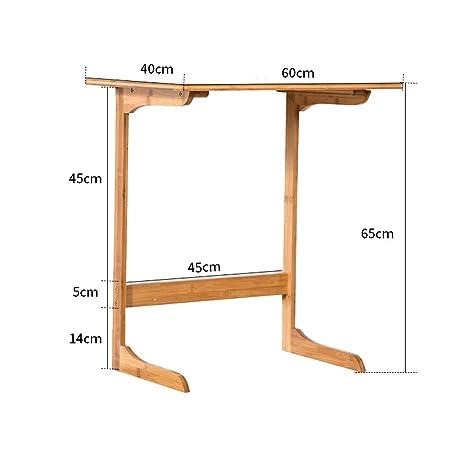 mesa plegable Chunlan Nordic Bamboo Sofa Side Bedside Table ...